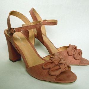 Deep pink sandals, size 9
